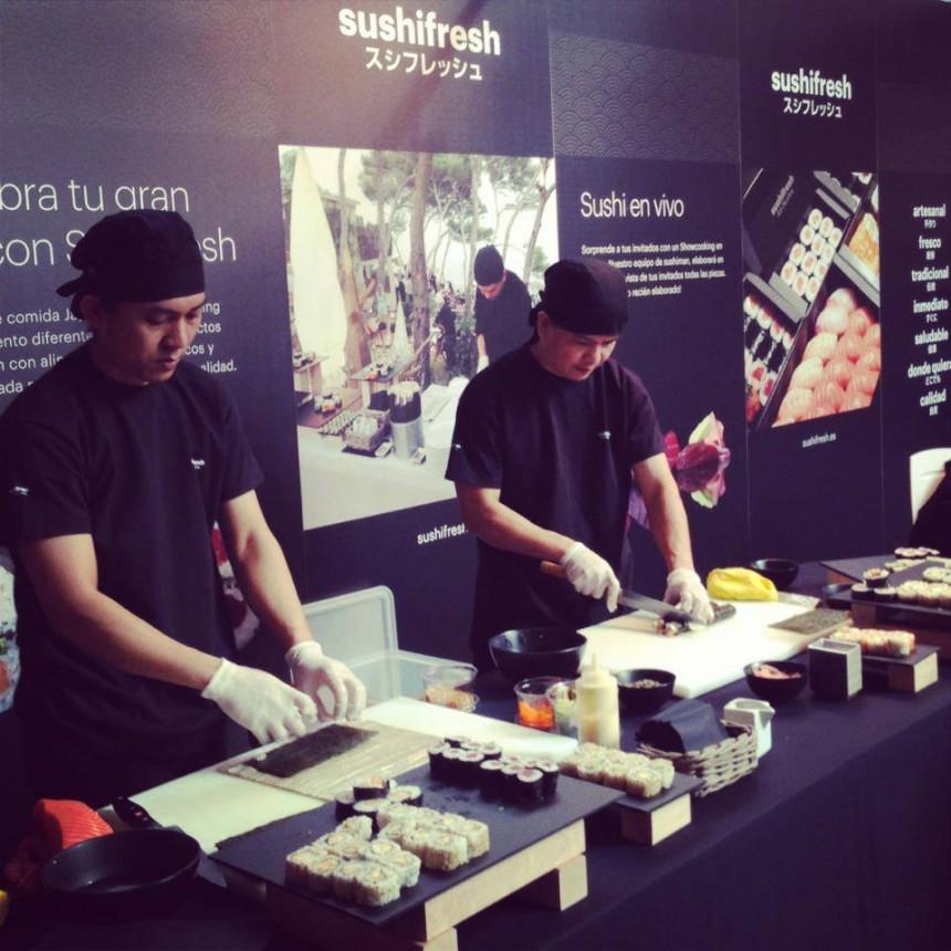 Sushifresh triunfa con su Showcooking! en el salón MiBoda