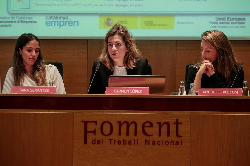 Foment Empren Reinventa Emprendre amb bon gust Sara Serantes Carmen Lopez y Rochelle Peetoom