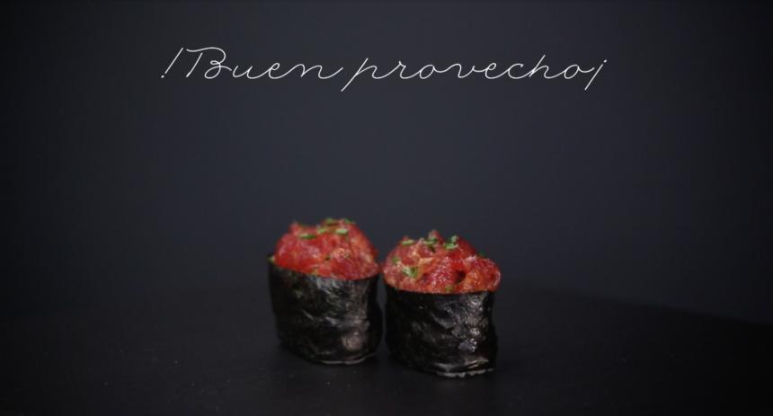 Gunkan Sushi, receta paso a paso con atún picante