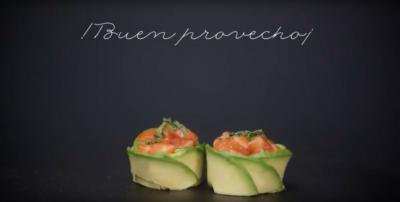 Receta sushi: Tulip de tartar de salmón