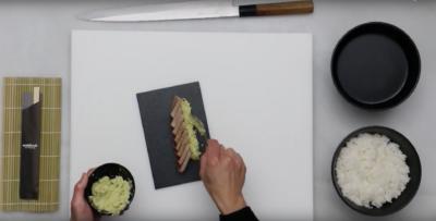 Receta sushi: Tataki de atún con guacamole