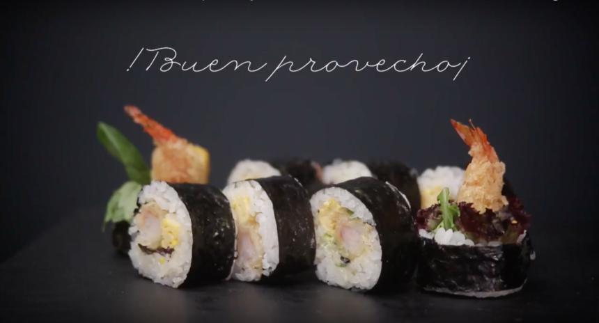 Receta sushi: Futomaki tempura de langostino