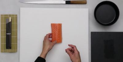 Receta sushi: Sashimi de salmón
