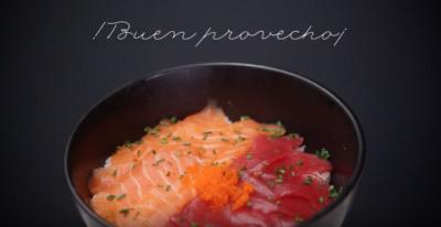 Receta sushi: Chirashi de atún y salmón